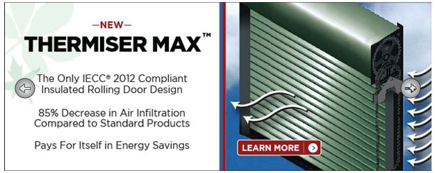 Thermiser Max Insulated Rolling Door from Cornell Iron Works