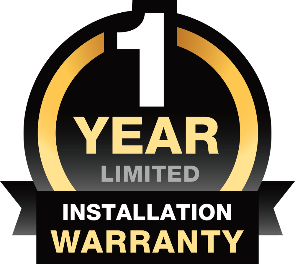 1 Year Installation Warranty